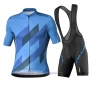 2020 Cycling Jersey Mavic Black Blue Short Sleeve and Bib Short