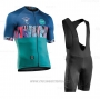 2020 Cycling Jersey Northwave Blue Green Short Sleeve and Bib Short