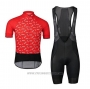 2020 Cycling Jersey POC Red Black Short Sleeve and Bib Short