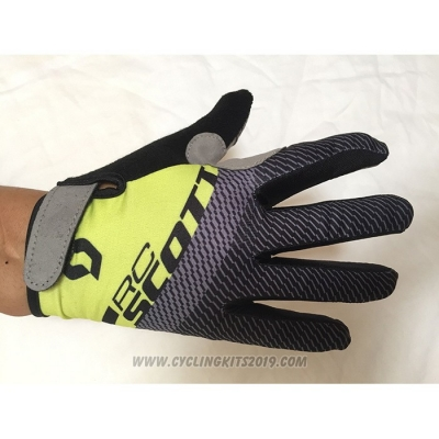 2020 Scott Full Finger Gloves Yellow Gray
