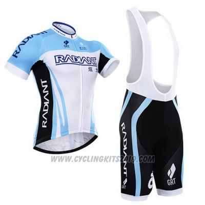 Cycling Jersey To The Fore Sky Blue and White Short Sleeve and Bib Short