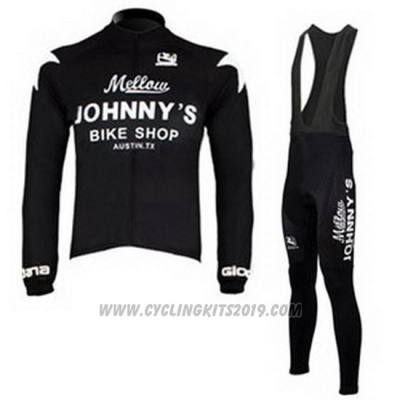 2010 Cycling Jersey Johnnys Black Long Sleeve and Bib Tight