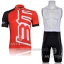 2011 Cycling Jersey BMC Red Short Sleeve and Bib Short