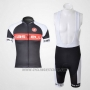 2011 Cycling Jersey Castelli White and Gray Short Sleeve and Bib Short