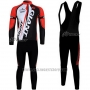 2011 Cycling Jersey Giant Red and Black Long Sleeve and Bib Tight