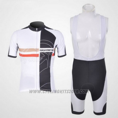 2011 Cycling Jersey Giordana Black White Short Sleeve and Bib Short
