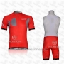 2011 Cycling Jersey Look Red Short Sleeve and Bib Short
