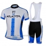 2013 Cycling Jersey Kuota White and Sky Blue Short Sleeve and Bib Short