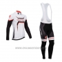 2014 Cycling Jersey Castelli Black and White Long Sleeve and Bib Tight