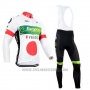 2014 Cycling Jersey Europcar Campione Japan Long Sleeve and Bib Tight