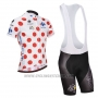 2014 Cycling Jersey Tour de France White and Red Short Sleeve and Bib Short