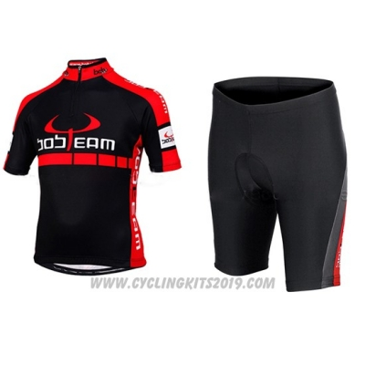 2015 Cycling Jersey Bobteam Black Short Sleeve and Bib Short
