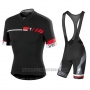 2015 Cycling Jersey Specialized Black Short Sleeve and Bib Short