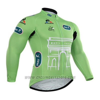 2015 Cycling Jersey Tour de France Vede Militare Long Sleeve and Bib Tight
