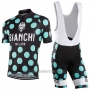 2016 Cycling Jersey Bianchi Green and Black Short Sleeve and Bib Short