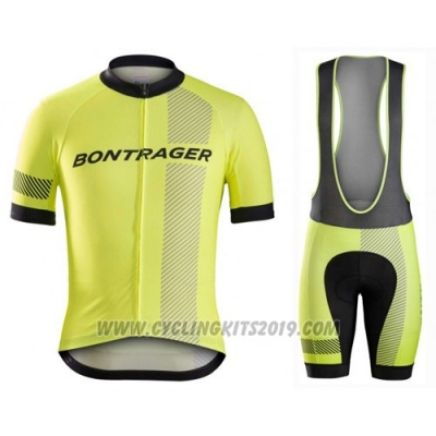 2016 Cycling Jersey Bontrager Black and Yellow Short Sleeve and Bib Short