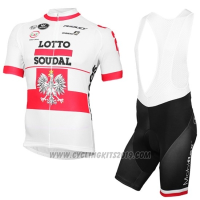 2016 Cycling Jersey Lotto Soudal Campione Poland Short Sleeve and Bib Short