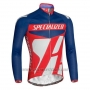 2016 Cycling Jersey Specialized Blue and Red Long Sleeve and Bib Tight