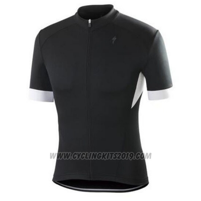 2016 Cycling Jersey Specialized Bright Black and White Short Sleeve and Bib Short