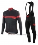 2016 Cycling Jersey Specialized Ml Red and Black Long Sleeve and Bib Tight