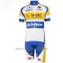 2016 Cycling Jersey Sport Vlaanderen Baloise White and Yellow 7 Short Sleeve and Bib Short