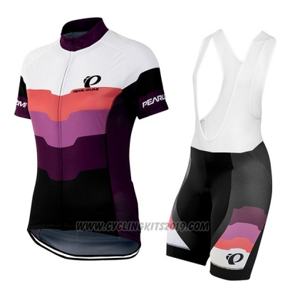2016 Cycling Jersey Women Pearl Izumi Black and Purple Short Sleeve and Bib Short