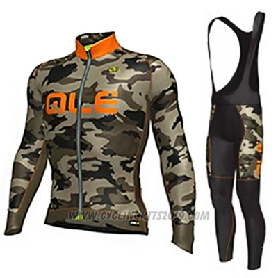 2017 Cycling Jersey ALE Camuffamento Long Sleeve and Bib Tight