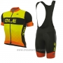 2017 Cycling Jersey ALE R-ev1 Rumbles Yellow Short Sleeve and Bib Short