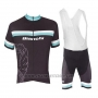 2017 Cycling Jersey Bianchi White and Light Blue Short Sleeve and Bib Short