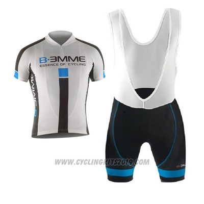 2017 Cycling Jersey Biemme Identity White Short Sleeve and Bib Short