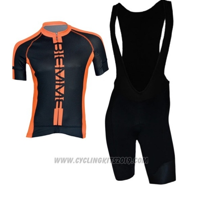 2017 Cycling Jersey Biemme Poison Orange Short Sleeve and Bib Short