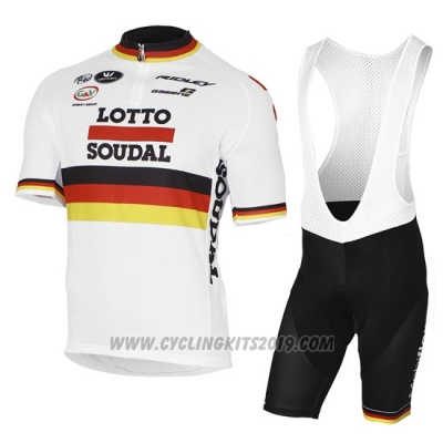 2017 Cycling Jersey Lotto Soudal Campione Germany Short Sleeve and Bib Short