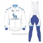 2017 Cycling Jersey Novo Nordisk White Long Sleeve and Bib Tight