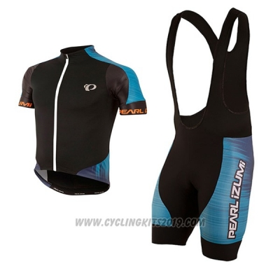 2017 Cycling Jersey Pearl Izumi Black and Blue Short Sleeve and Bib Short