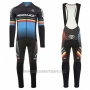 2017 Cycling Jersey Ridley Rincon Long Sleeve and Bib Tight Black and Blue Short Sleeve and Bib Short