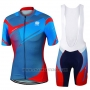 2017 Cycling Jersey Sportful Blue Short Sleeve and Bib Short