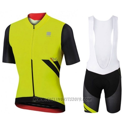 2017 Cycling Jersey Sportful R&d Ultraskin Green and Black Short Sleeve and Bib Short