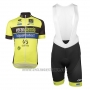 2017 Cycling Jersey Wb Verlanclassics Aquality Project Green and Black Short Sleeve and Bib Short