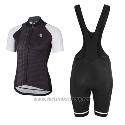 2017 Cycling Jersey Women Etxeondo Neo Black and White Short Sleeve and Bib Short