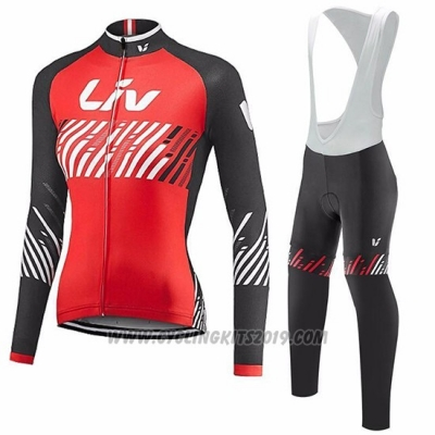 2017 Cycling Jersey Women Liv Red Short Sleeve and Bib Short
