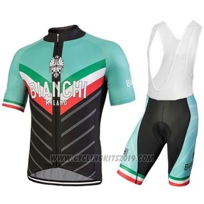 2018 Cycling Jersey Bianchi Tiera Light Green and Black Short Sleeve and  Bib Short aafc4144a