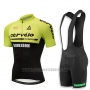 2018 Cycling Jersey Cervelo Green and Black Short Sleeve and Bib Short