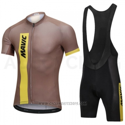 2018 Cycling Jersey Mavic Marron Short Sleeve and Bib Short