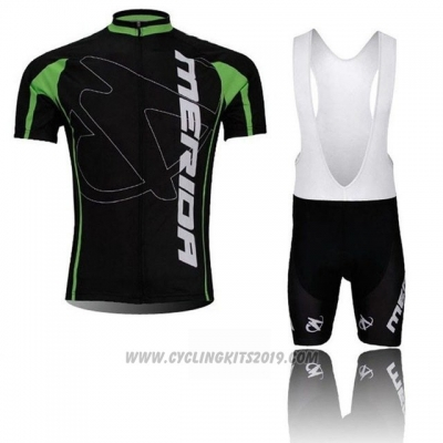 2018 Cycling Jersey Merida Black Short Sleeve and Bib Short