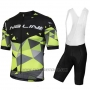 2018 Cycling Jersey Nalini Ahs Discesa Black and Green Short Sleeve and Salopette