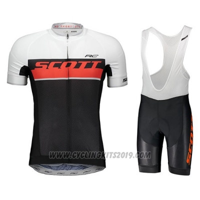 2018 Cycling Jersey Scott Rc Orange Short Sleeve and Salopette