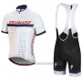 2018 Cycling Jersey Specialized White Red Purple Short Sleeve and Bib Short