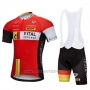 2018 Cycling Jersey Vital Concept Red White Short Sleeve and Bib Short
