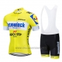 2019 Cycling Jersey Deceuninck Quick Step Yellow White Short Sleeve and Bib Short