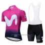 2019 Cycling Jersey Movistar Black Pink Short Sleeve and Bib Short